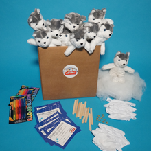 Load image into Gallery viewer, Husky Dog Plush Teddy Making Kits with T shirt