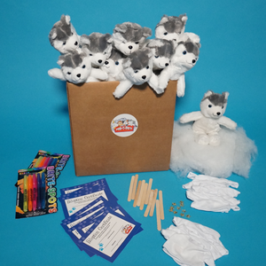 Husky Dog Plush Teddy Making Kits with T shirt