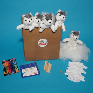 Husky Dog Plush Teddy Making Kit with t shirt