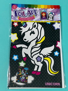 Unicorn Theme Kids Foil art