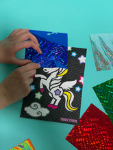 Load image into Gallery viewer, unicorn foil art craft