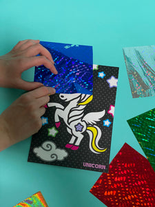 unicorn foil art craft