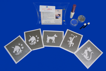 Load image into Gallery viewer, Animal and pet theme glitter tattoo kit