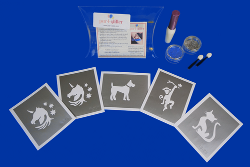 Animal and pet theme glitter tattoo kit