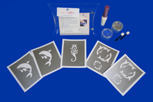 Load image into Gallery viewer, UNDERSEA THE SEA THEME GLITTER TATTOO KITS