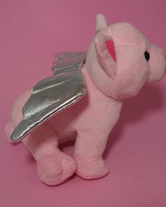 Flying pig side back view