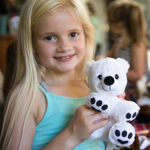 Load image into Gallery viewer, Girl with 8 inch plush polar bear