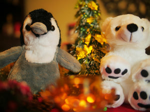 Christmas theme front polar bear and penguin crafts