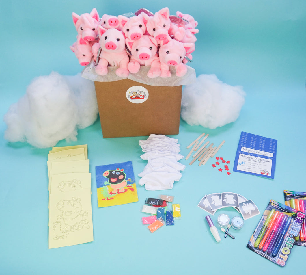 Flying Pig Theme Pack with sandart and glitter tattoos