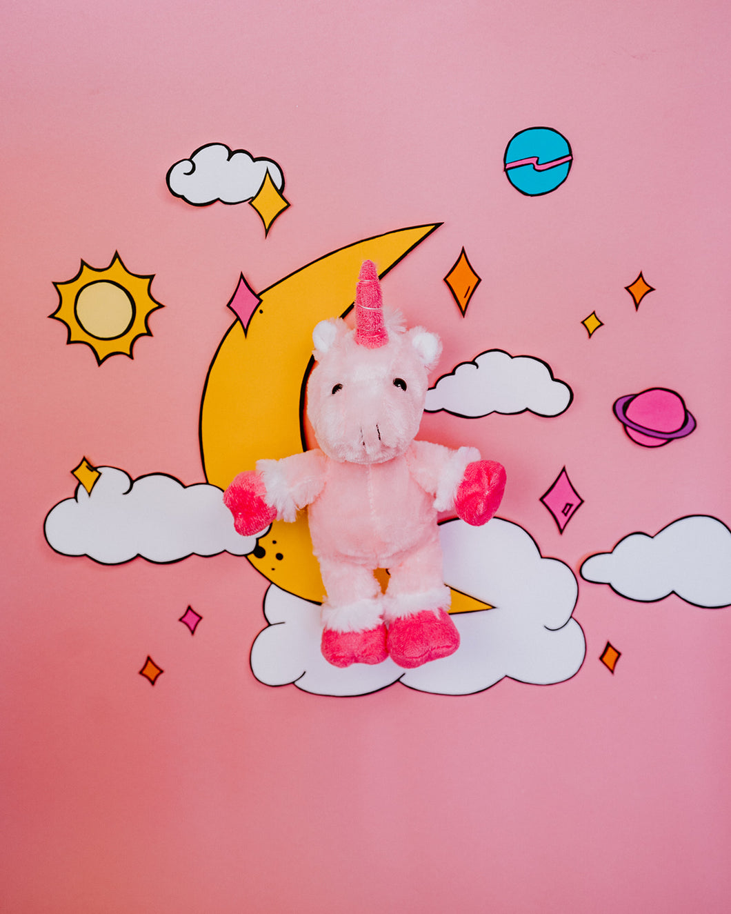 Pink Unicorn Plush Animal