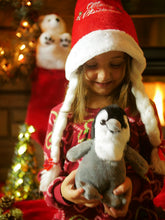 Load image into Gallery viewer, Girl at Christmas with Penguin plush stuffy