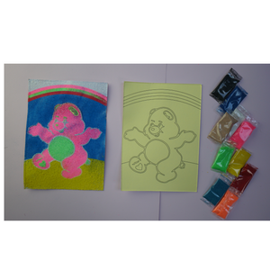 Teddy Bear Theme Foil Art
