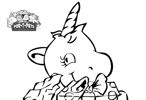 Festive Unicorn Coloring Sheet- Free Printable