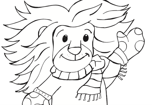 Lion Coloring Sheet - Free Printable