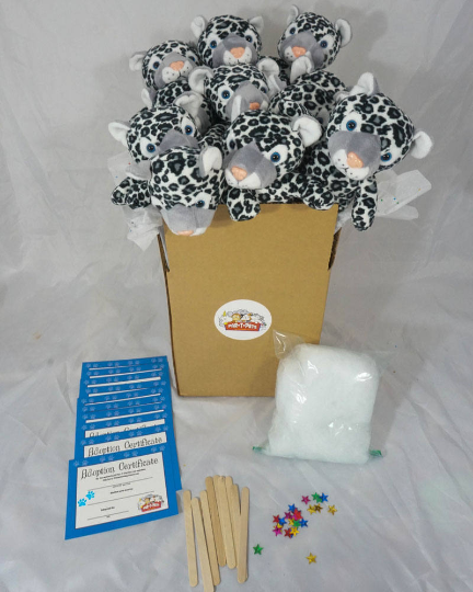 Snow Leopard Teddy Making Kit