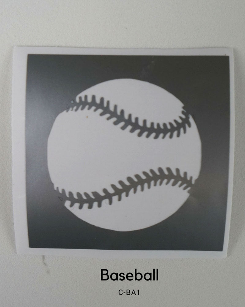 BASEBALL TEMPORARY TATTOO STENCIL