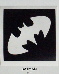 BAT TEMPORARY TATTOO STENCIL