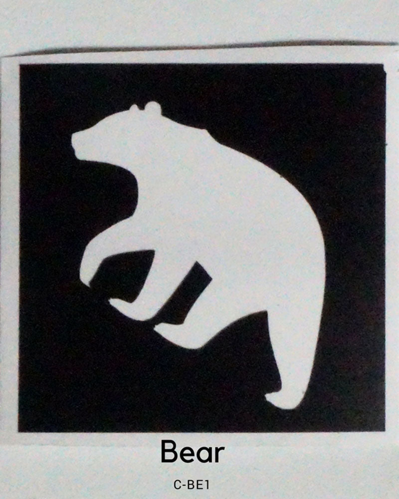 POLAR BEAR GLITTER TATTOO STENCIL