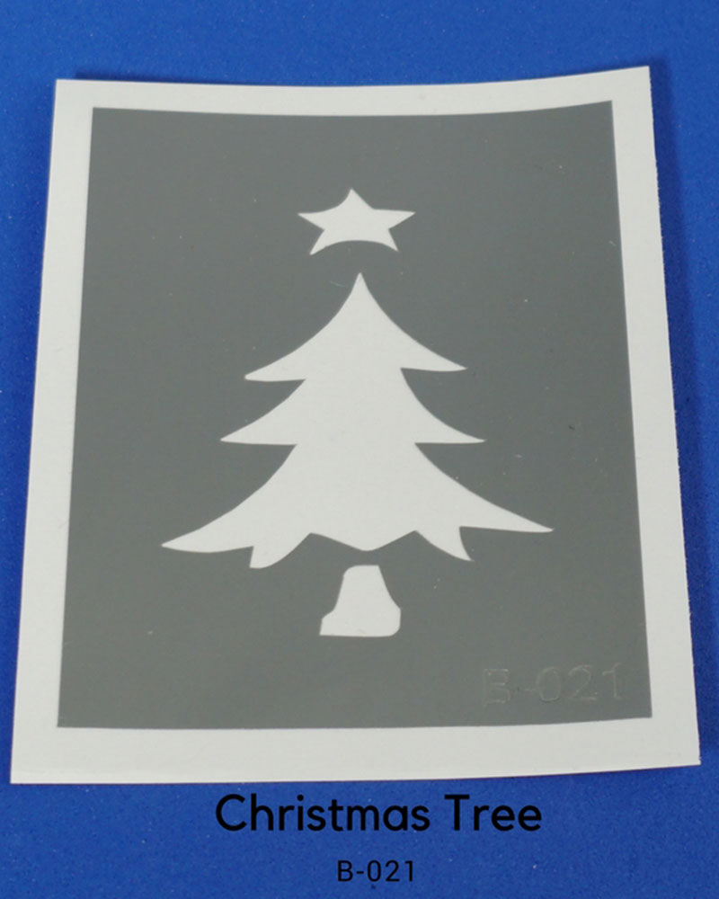 CHRISTMAS TREE TEMPORARY TATTOO STENCIL