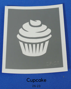 CUPCAKE TEMPORARY TATTOO STENCIL