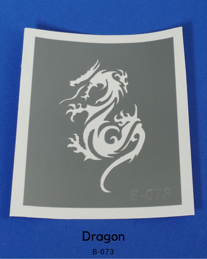 DRAGON TEMPORARY TATTOO STENCIL