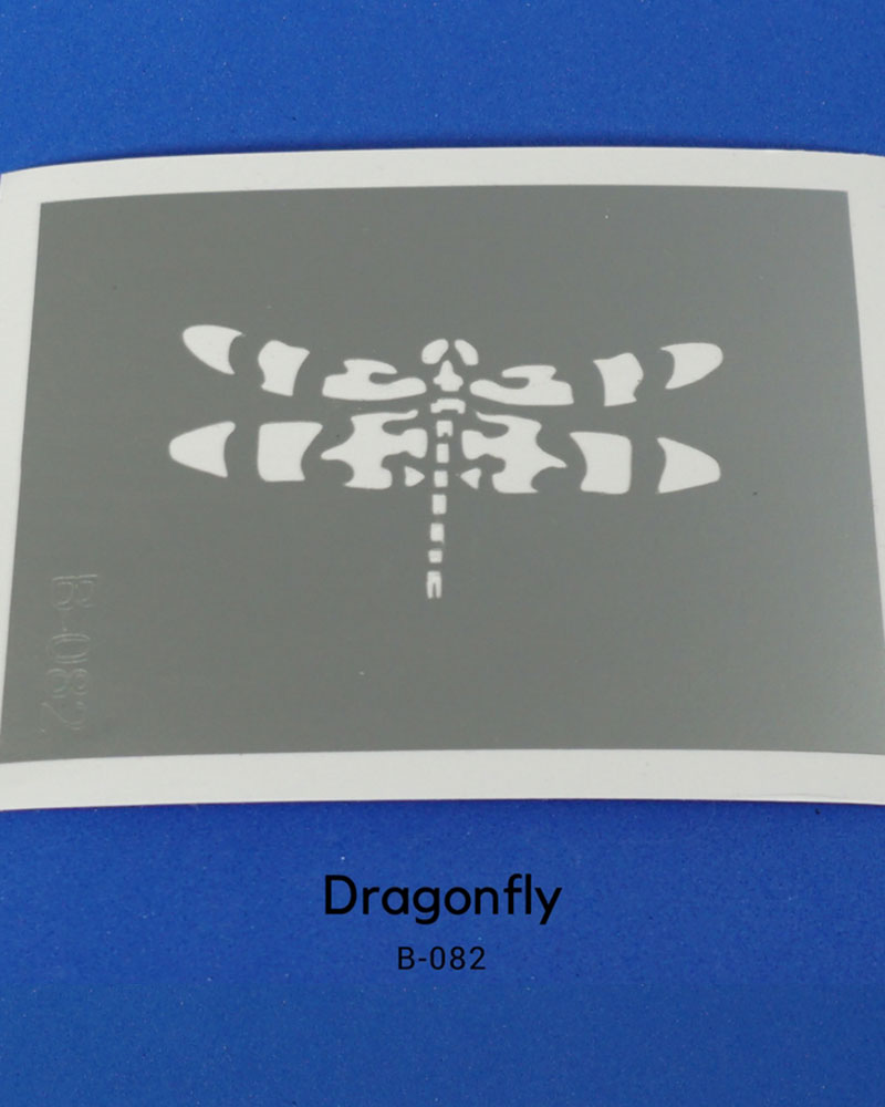 DRAGONFLY TEMPORARY TATTOO STENCIL