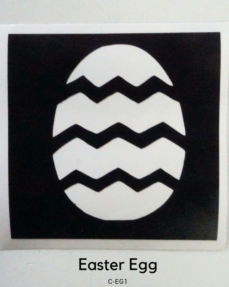 EASTER EGG TEMPORARY TATTOO STENCIL
