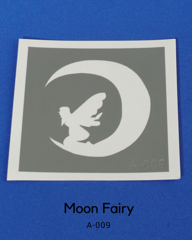 MOON FAIRY GLITTER TATTOO STENCIL