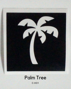 PALM TREE GLITTER TATTOO STENCIL