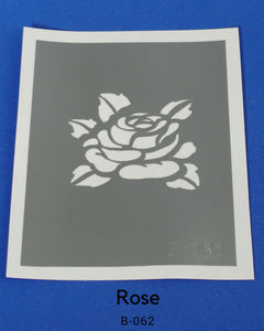 ROSE GLITTER TATTOO STENCIL