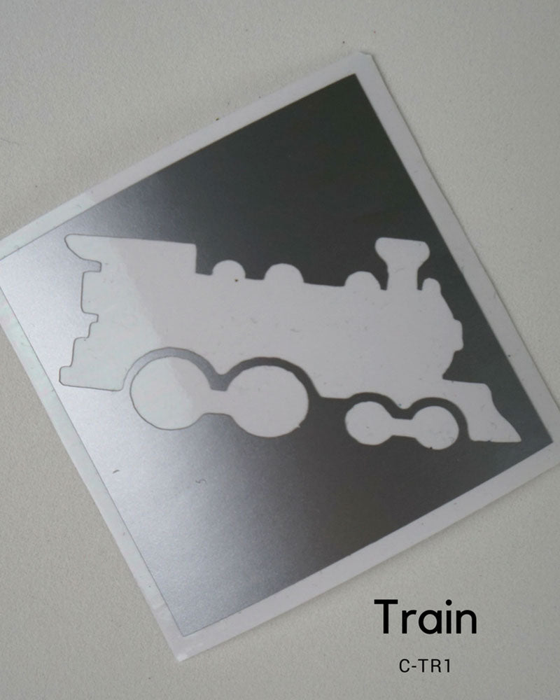 TRAIN GLITTER TATTOO STENCIL