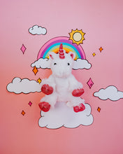 Load image into Gallery viewer, White Unicorn Plush Animal