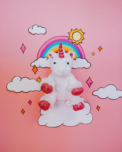 White Unicorn Plush Animal