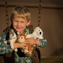 Load image into Gallery viewer, Boy with Par-T-Pet Plush animals