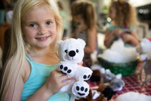 Load image into Gallery viewer, Girl with polar bear stuffy