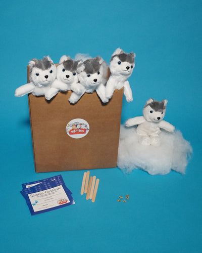Husky Dog Plush Teddy making kit 5 pack