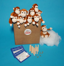 Load image into Gallery viewer, Monkey Plush Teddy Making kit for kids parties