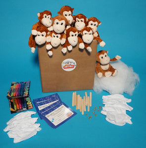 Monkey Plush Teddy Making Kit With T Shirt Accessory