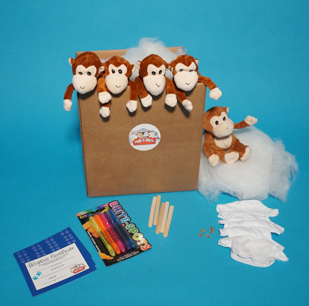 Monkey Plush Teddy Making Kit with T-shirt