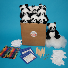 Load image into Gallery viewer, Panda Bear making kits with t shirt 10 pack