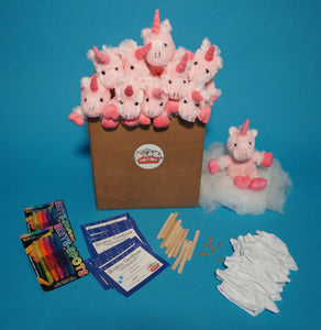 Pink Unicorn Plush Teddy Making Kit with T shirt Accessory