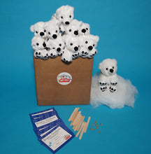 Load image into Gallery viewer, Polar Bear Teddy making kit 10 pack par-t-pets