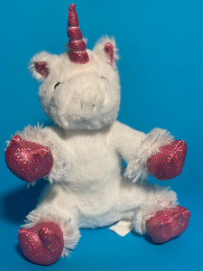 white unicorn plushy