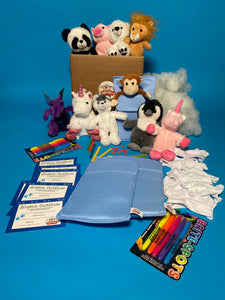 Slumber party 10 pack deluxe with t shirt teddy stuffing kits