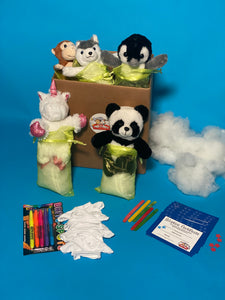 VIRTUAL OR SOCIAL DISTANCING PARTIES FOR KIDS  TEDDY MAKING KITS