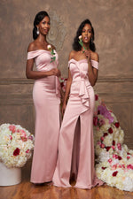 Load image into Gallery viewer, The MELANIE Dress - Blush Pink - DOYIN LONDON