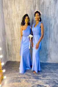 The LAUREN Dress - Blue - DOYIN LONDON