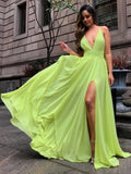 Sexy Prom Dress with Slit, Pageant Dress, Evening Dress, Dance Dresses, Graduation School Party Gown, DT0534
