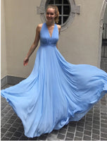 Simple Chiffon Prom Dress, Pageant Dress, Evening Dress, Dance Dresses, Graduation School Party Gown, DT0547