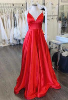 Red Prom Dress Long, Pageant Dress, Evening Dress, Dance Dresses, Graduation School Party Gown, DT0614